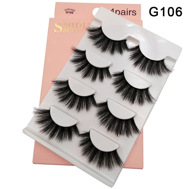 3D Mink False Eyelashes.  Mink Strip Lashes
