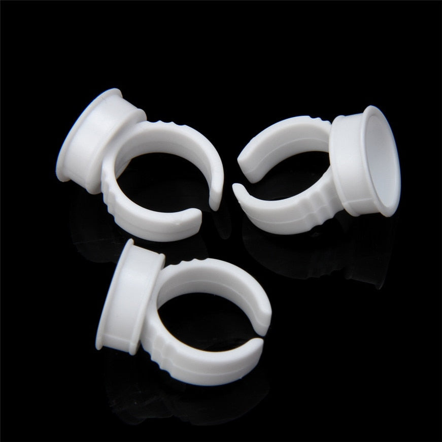 100 Pcs Microblading Pigment Rings, Tattoo Ink Holder