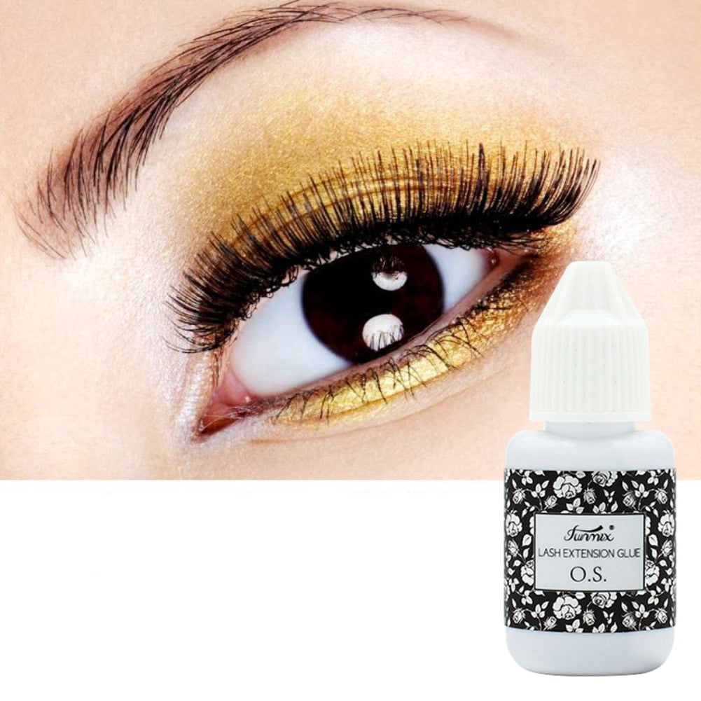 10ml 1-2 Seconds Fast Dry Eyelash Glue Adhesive, Low Odor Lash Glue Eyelash Extension Glue