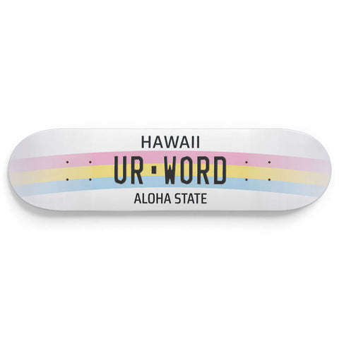 Personalised License Plates Hawaii (USA)