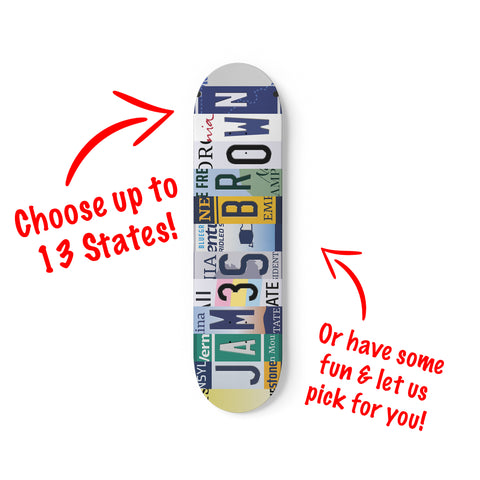Personalised License Plate Decks Mix & Match