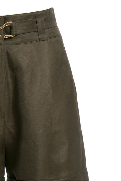 Linen Shorts With Belt