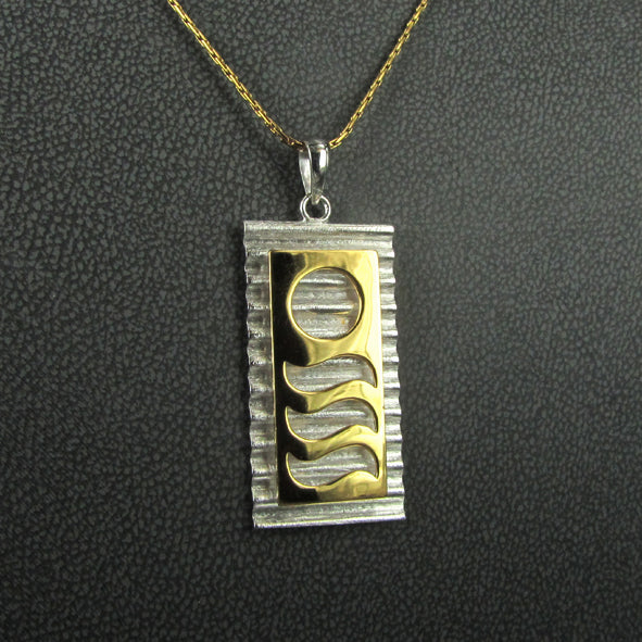 STAIRCASE TO THE MOON CORRUGATED PENDANT