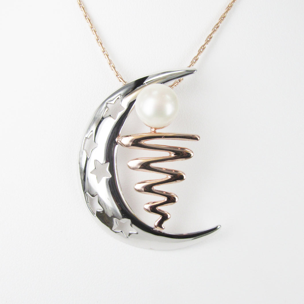 STAIRCASE TO THE MOON CRESCENT PENDANT