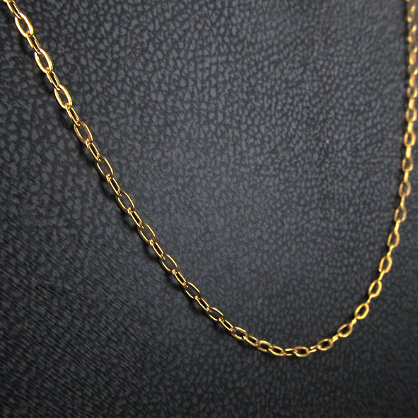 STEEL EXTENSION CHAIN GOLD THIN