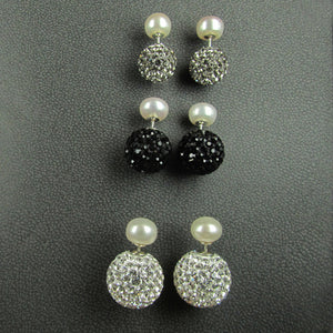 PEARL & 12MM CRYSTAL BACK STUDS