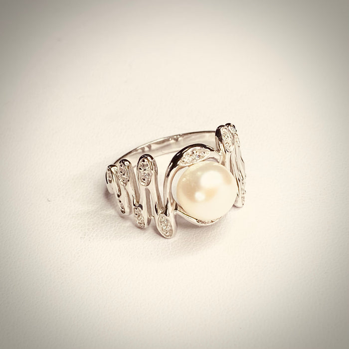 STAIRCASE TO THE MOON CZ RING