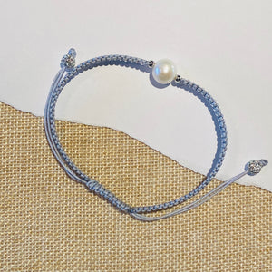 STRING AND PEARL ANKLET