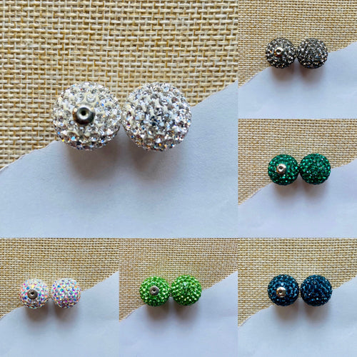 GLITTER BALL STUD EARRING BACKS