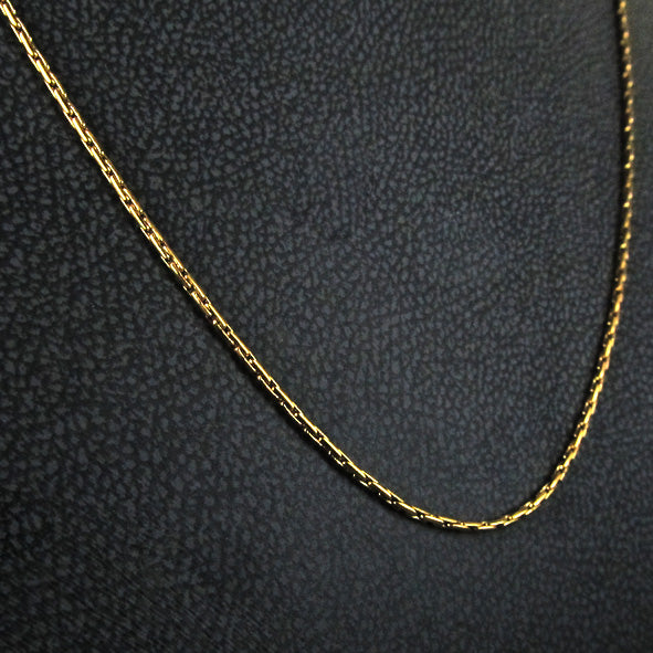 STEEL EXTENSION CHAIN GOLD THICK