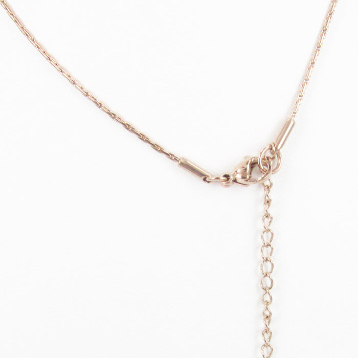 STAINLESS STEEL EXTENSION CHAIN ROSE GOLD THICK