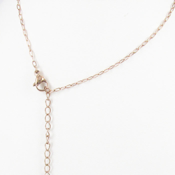 STAINLESS STEEL EXTENSION CHAIN ROSE GOLD THIN