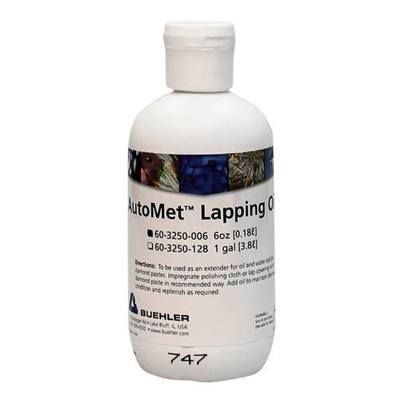 AutoMet Lapping Oil, 6oz-p - JH Technologies