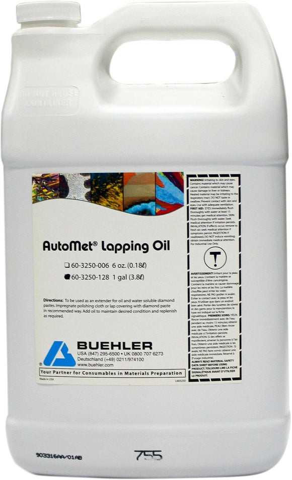 AutoMet Lapping Oil, 1 gal-p - JH Technologies
