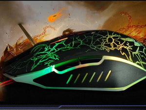 Colorful Backlight 4000 DPI Optical Wired Gaming Mice - Smuggle Shop LLC.