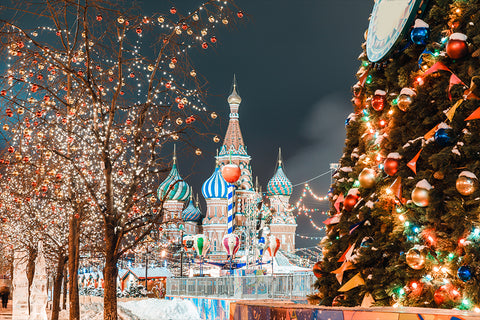 Christmas image in Russia Red Square | Christmas Songs and Carols Love to Sing