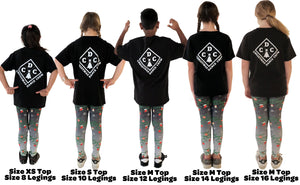 Kids Christmas Dance Crew T-Shirt | CDC Logo Design - Christmas Songs & Carols Love to Sing