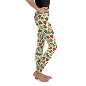 Youth Christmas Leggings | Christmas Tree Design - Christmas Songs & Carols Love to Sing
