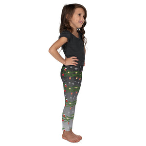 Kid's Christmas Leggings | Christmas Decoration Design Black/Grey - Christmas Songs & Carols Love to Sing