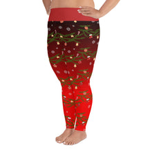 Load image into Gallery viewer, Christmas Leggings | Christmas Decorations Design Red | Plus Size Leggings - Christmas Songs & Carols Love to Sing