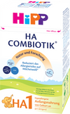 HiPP Hypoallergic (HA) Combiotik Formula - Stage1 - 6 Pack -  (German)