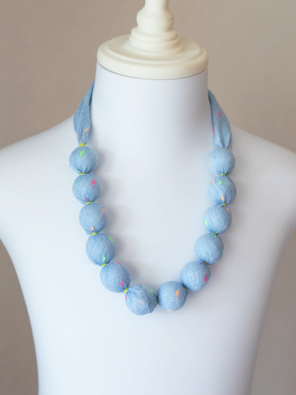 Pixie Bead Necklace in Neon Dot