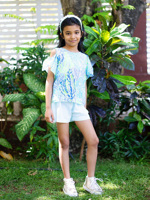 Mist Top in Blue Tropic