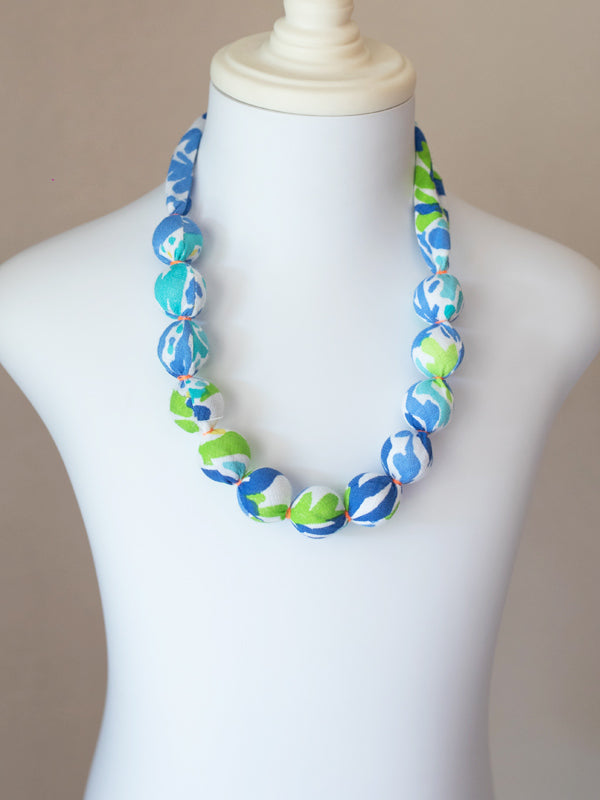 PIXIE BEAD NECKLACE IN BLUE TROPIC