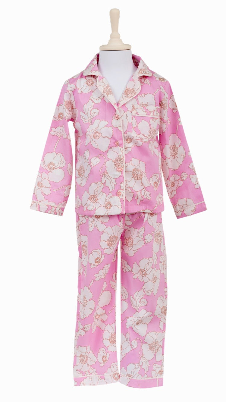 Pink Flower Night Suit