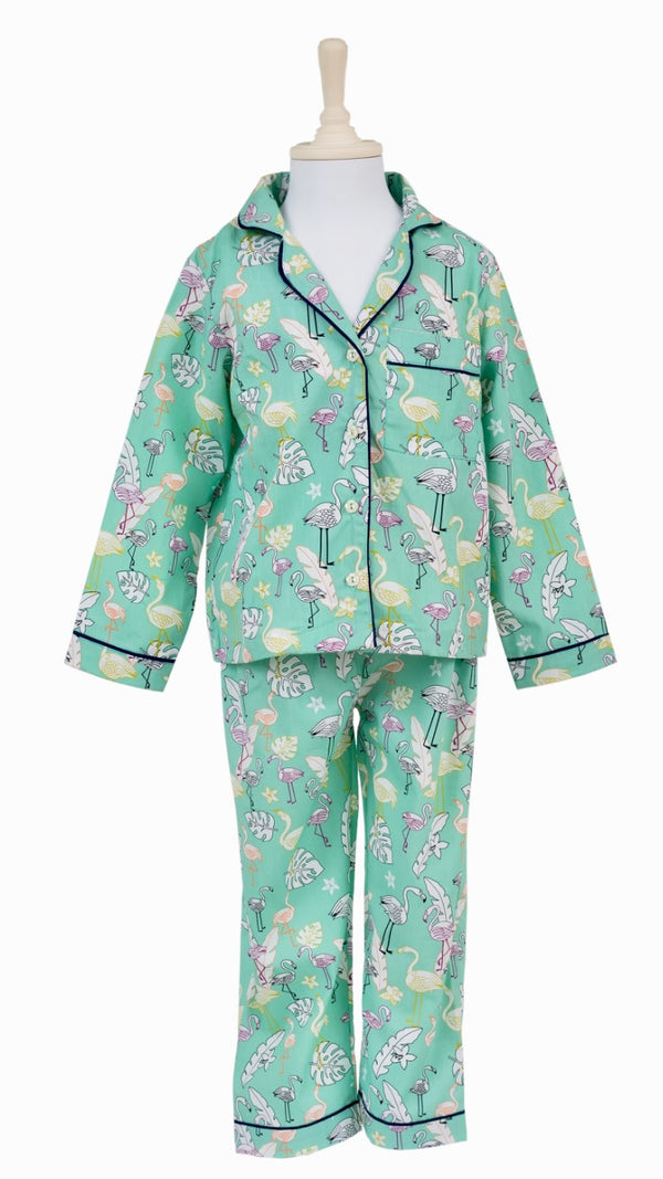 Mint Flamingo Night Suit
