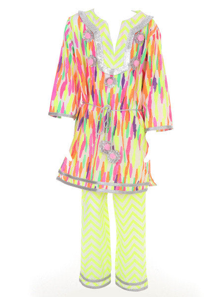MARI BELTED TUNIC IN CANDY