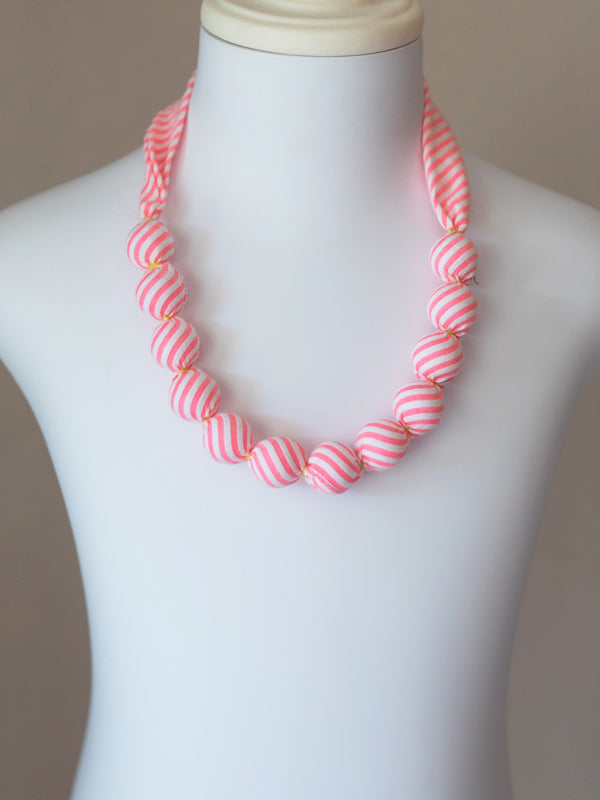 PIXIE BEAD NECKLACE IN NEON STRIPE