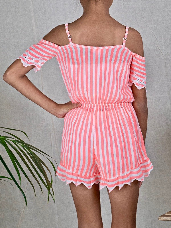 Peggy Playsuit cover-up in Tango