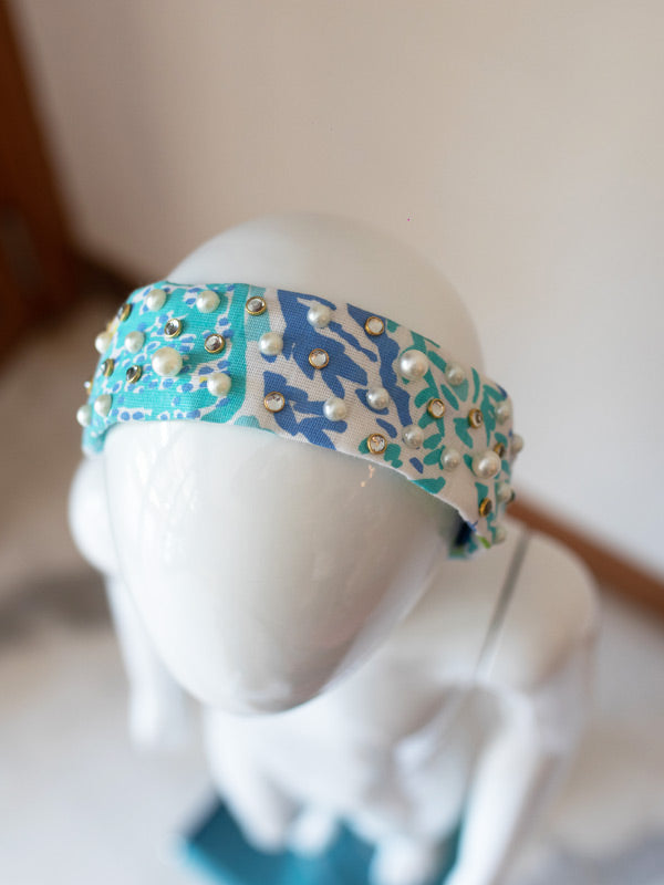 Trixie Hairband in Blue Tropic