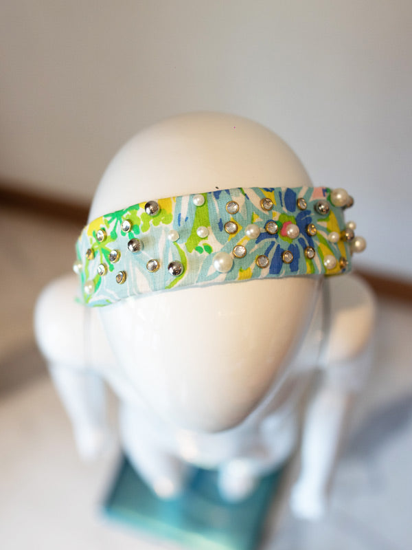 Trixie Hairband in Embellished Multi Flower