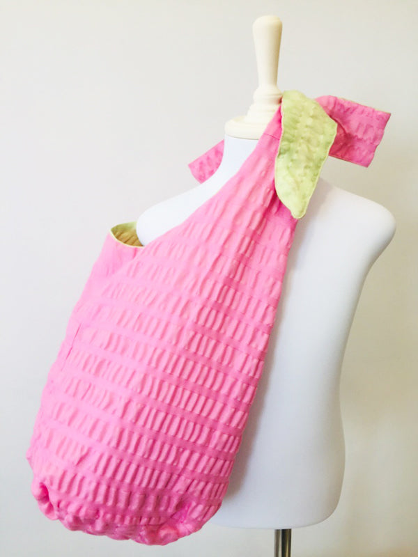 Soho Green and Pink Beach Bag