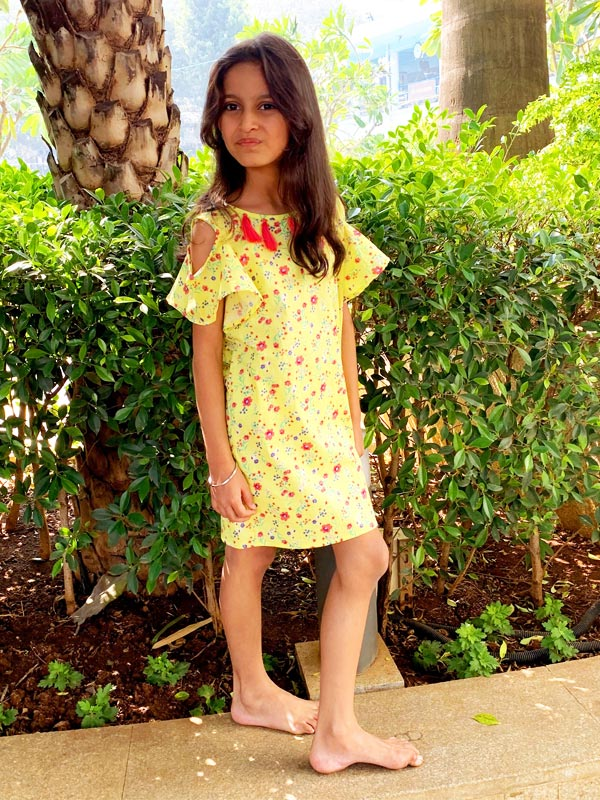 Dana Dress in Canary