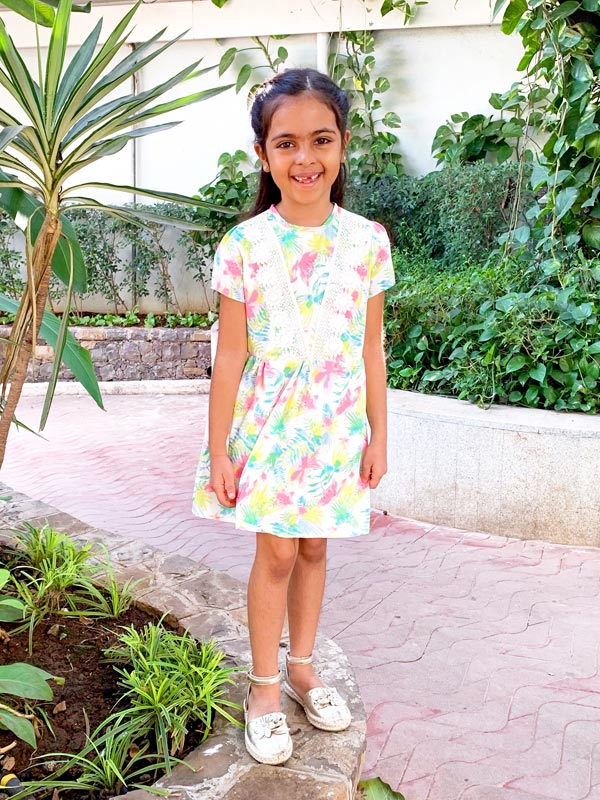 Anna Dress in Pastel Tropic