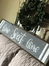 Load image into Gallery viewer, Home sweet home, home decor, HOME wood sign, farmhouse decor