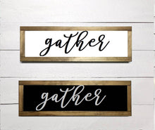 Load image into Gallery viewer, Gather Framed Wood Sign