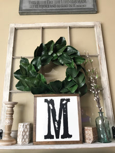Family Initial-Monogram Framed Wood Sign