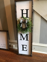 Load image into Gallery viewer, Framed HOME Sign with Wreath