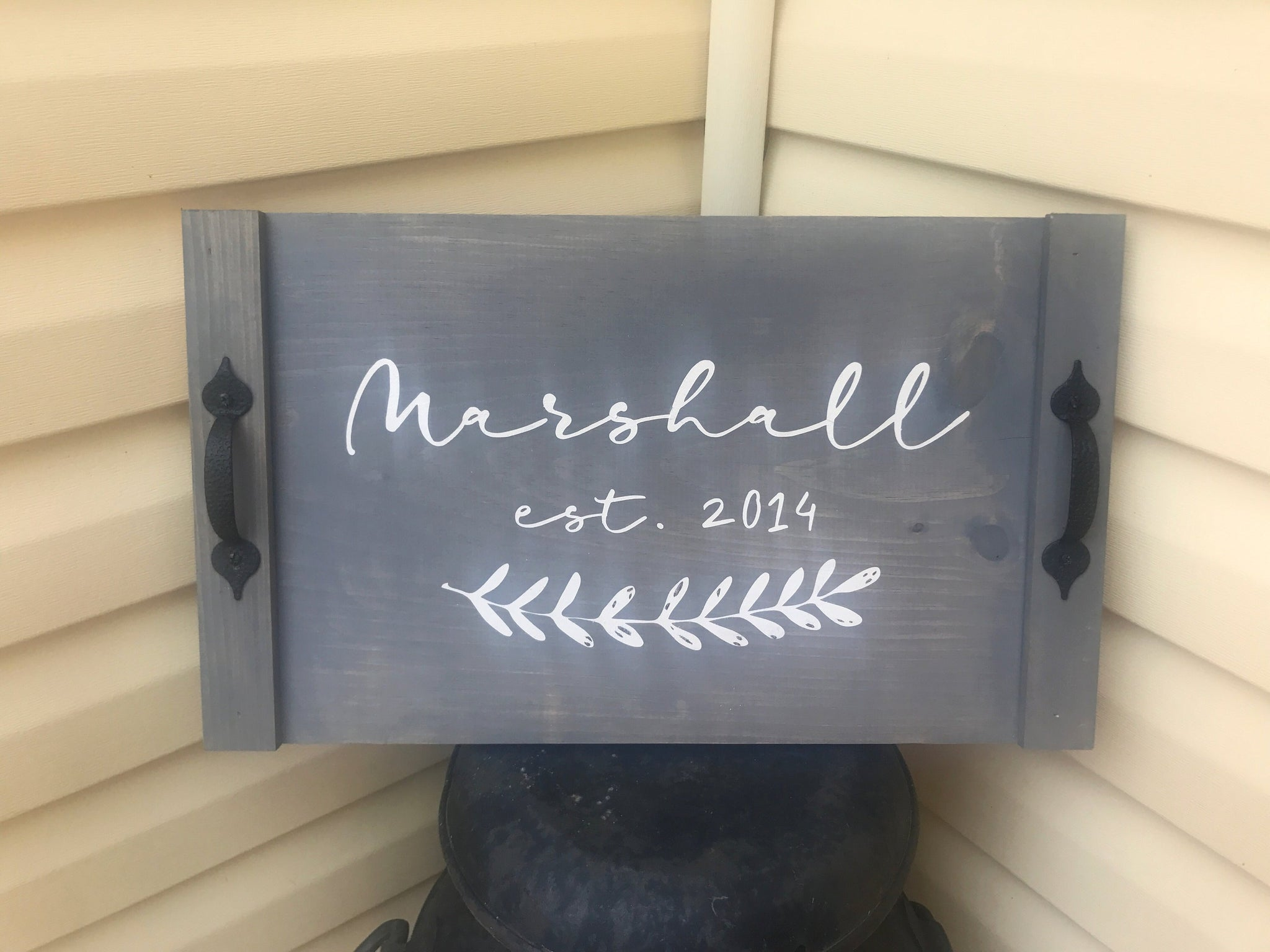 Personalized Serving Tray Marshall Made Home Decor