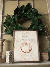 Load image into Gallery viewer, Pumpkin Patch Framed Wood Sign