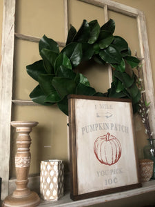 Pumpkin Patch Framed Wood Sign