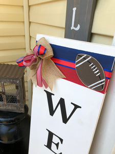 Farmhouse Welcome Sign - Sports