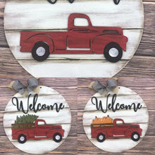 Load image into Gallery viewer, Vintage Truck Round Door Hanger - Interchangeable with 5 shapes