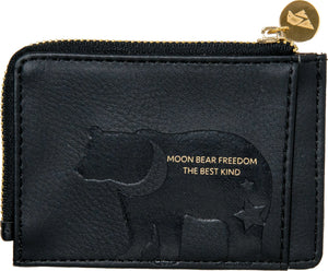 Vegan moon bear card holder