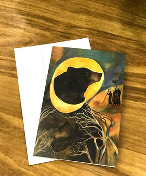 Note cards (moon bear)