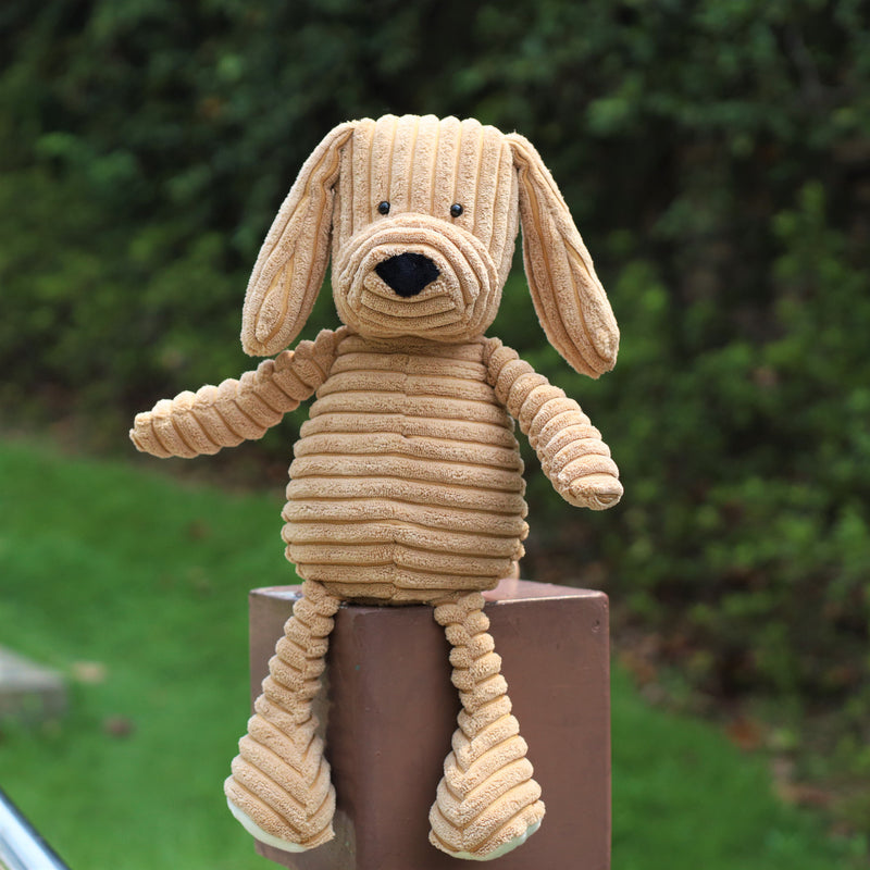 Corduroy plush dog (35cm)